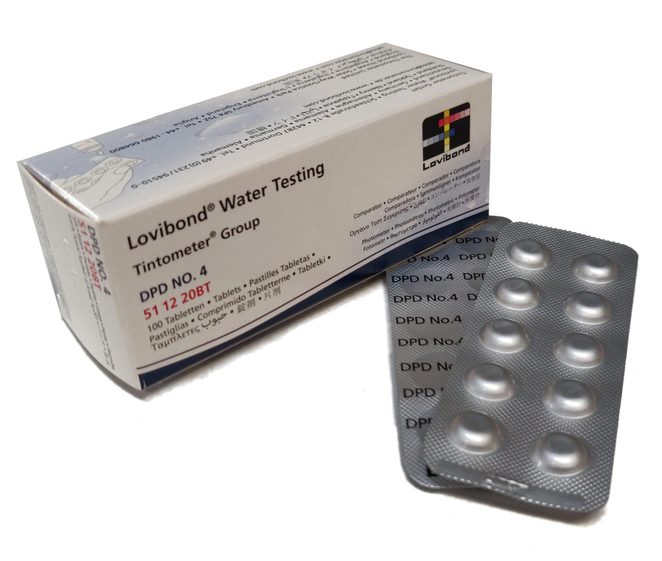 DPD Nr. 4, Aktiv Oksygen 0,1-10 mg/l (Photometer)