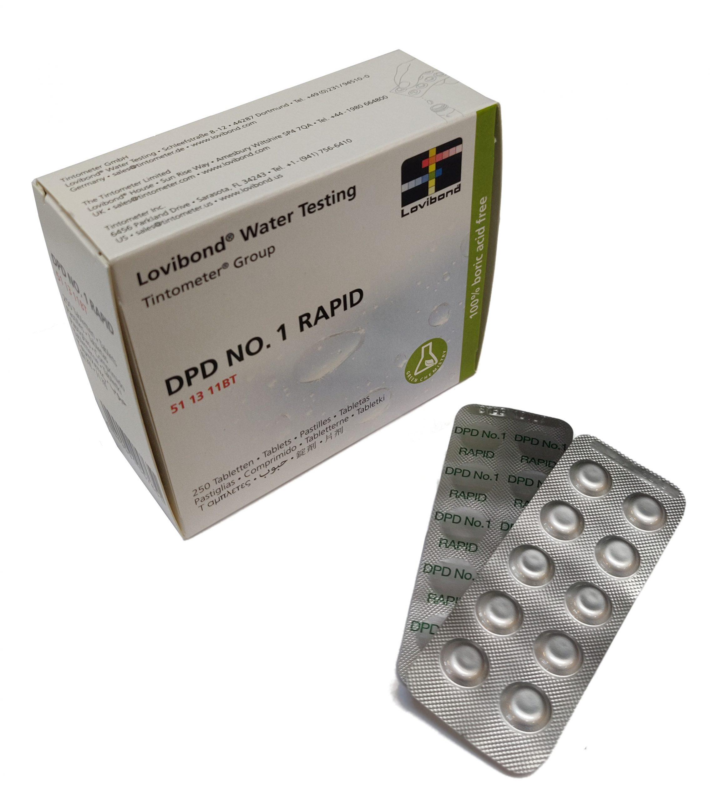 DPD Nr. 1 Rapid, fritt klor (håndrister)